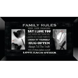 "PTM Images Photo Frame, Family Rules, 22""H x 1 1/4""W x 12""D, Black"