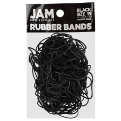 JAM Paper® Rubber Bands, Black, Size 19, Pack Of 100 Rubber Bands