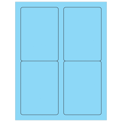 """Office Depot® Brand Labels, LL176BE, Rectangle, 3 1/2"""" x 5"""", Pastel Blue, Case Of 400"""