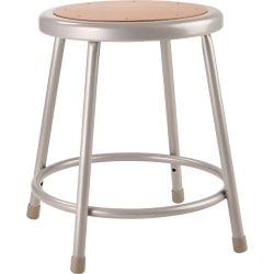 "National Public Seating Hardboard Task Stool 18""H, Gray Seat/Gray Frame"