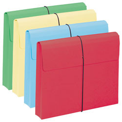"""Smead® Color Expanding Wallets, 2"""" Expansion, Letter Size, Assorted Colors, Box Of 10"""