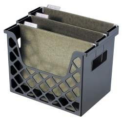 "Brenton Studio™ Desktop Storage File Organizer, Letter/Legal Size, 10 3/4"" x 13 1/4"" x 8 5/8"", 30% Recycled, Black"