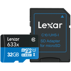 Lexar® microSDHC™ High-Performance UHS-1 Memory Card, 32GB