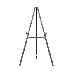 """MasterVision® Quantum Lightweight Tripod Display Easel, 35 7/16"""" to 63"""" High, Plastic, Black"""