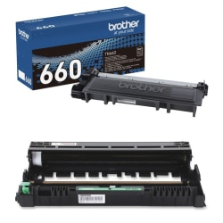 Brother® TN-660 High-Yield Black Toner Cartridge With DR-630 Drum Unit