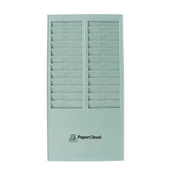 "PaperCloud Time Card Rack, 24 Pockets, 16.4""H x 8.2""W x 1.4""D, Gray, PCTCR24"