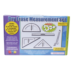 Learning Advantage Dry-Erase Magnetic Measurement Set, Black/White