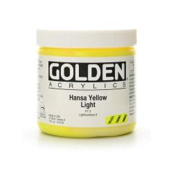 Golden Heavy Body Acrylic Paint, 16 Oz, Hansa Yellow Light