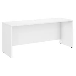 """Bush Business Furniture Studio C Credenza Desk, 72""""W x 24""""D, White, Standard Delivery"""