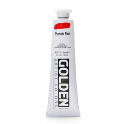 Golden Heavy Body Acrylic Paint, 2 Oz, Pyrrole Red