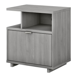 "kathy ireland® Home by Bush Furniture Madison Avenue 28""W Lateral 1-Drawer File Cabinet With Shelves, Modern Gray, Standard Delivery"