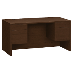 "HON® 10500 Series 4 Drawer Desk, 60"" x 30"", Mocha"