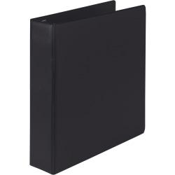 "Samsill® Earth's Choice Label Holder 3-Ring Binder, 2"" D-Rings, Black"