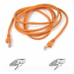 Belkin Cat5e Patch Cable - RJ-45 Male - RJ-45 Male - 5ft - Orange