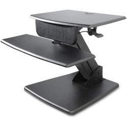 "Kantek Desktop Sit-to-Stand Computer Workstation - 25 lb Load Capacity - 22"" Height x 26.8"" Width x 23.5"" Depth - Desktop - Black"