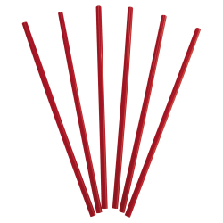 "Dixie® Wrapped Giant Straws, 10 1/4"", Red, 300 Straws Per Box, Carton Of 4 Boxes"