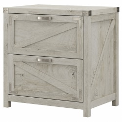 Kathy Ireland Home by Bush® Furniture Cottage Grove 2 Drawer Lateral File Cabinet, Cottage White, Standard Delivery