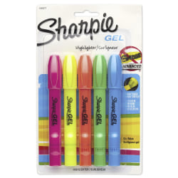 Sharpie® Gel Highlighters, Assorted Colors, Pack Of 5