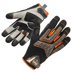 Ergodyne ProFlex 760 Impact-Reducing Utility Gloves, Extra Large, Black