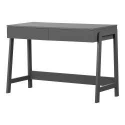"South Shore Liney 48""W Secretary Desk, Charcoal Gray"