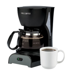 Mr. Coffee 4-Cup Coffeemaker, Black