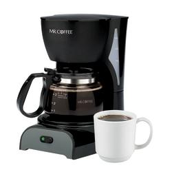 Mr. Coffee 4-Cup Coffeemaker, Black