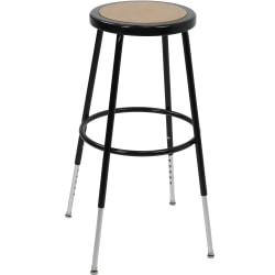 "Ergotron Classroom Stool - Fiberboard Seat - Steel Frame - Four-legged Base - Black, Chrome - Metal - 17"" Width x 17"" Depth x 32.5"" Height"