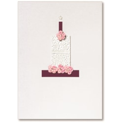 "Viabella Birthday Greeting Card With Envelope, Cake And Candle, 5"" x 7"""