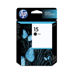 HP 15 Black Ink Cartridge (C6615DN)