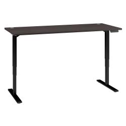 "Bush Business Furniture Move 80 Series 72""W x 30""D Height Adjustable Standing Desk, Storm Gray/Black Base, Premium Installation"