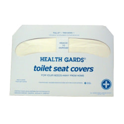 "Krystal Premium Half-Fold Toilet Seat Covers, 16"" x 3"", White, 250 Covers Per Box, Carton Of 4 Boxes"