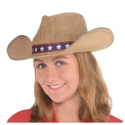 Amscan Patriotic Cowboy Hat, One Size, Country