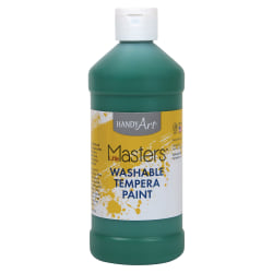 Handy Art 16 oz. Little Masters Washable Tempera Paint - 16 fl oz - 1 Each - Green