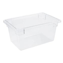"""Cambro Camwear Food Box, 19 Qt, 9""""H x 18""""W x 12""""D, Clear"""