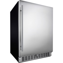 Silhouette Aragon Professional DAR055D1BSSPRO Refrigerator - 5.50 ft³ - Auto-defrost - 5.50 ft³ Net Refrigerator Capacity - 120 V AC - 278 kWh per Year - Silver, Stainless Steel - Stainless Steel - Glass Shelf, Stainless Steel - Built-in