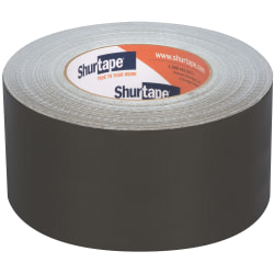 """Shurtape PC 618C Performance-Grade Cloth Duct Tape Rolls, 2.83"""" x 60 Yd, Olive, Pack Of 16 Rolls"""