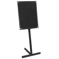 "MasterVision® Standing Letter Board, 24"" x 36"", Black Plastic Frame"