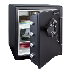 Sentry®Safe Fire Safe® Combination Safe, 1.23 Cu Ft Capacity
