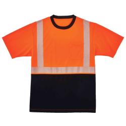 Ergodyne GloWear 8280BK Type R Class 2 Performance T-Shirt, Small, Orange