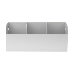 Mind Reader 3-Compartment Metal Condiment Holder, Silver