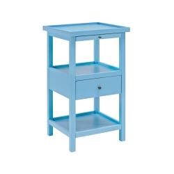 """Powell Toscao Side Table, 29-3/4""""H x 17""""W x 15-3/4""""D, Ocean Blue"""