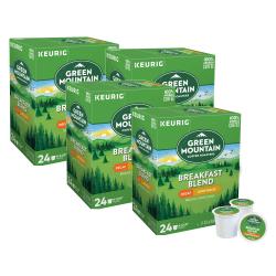 Green Mountain Coffee® Breakfast Blend Decaffeinated Single-Serve Coffee K-Cup®, Carton Of 96