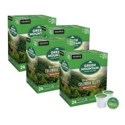 Green Mountain Coffee® Single-Serve Coffee K-Cup®, Colombian, Carton Of 96, 4 x 24 Per Box