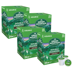 Green Mountain Coffee® Double Black Diamond Extra-Bold Coffee Single-Serve K-Cup®, Carton Of 96 Pods