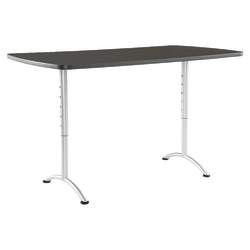 Iceberg IndestrucTable TOO Adjustable Height Utility Table, Rectangle, Graphite