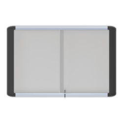 """MasterVision® Platinum Pure Magnetic Dry-Erase Enclosed Whiteboard, Sliding Door, 36"""" x 48"""", Aluminum Frame With Silver Finish"""