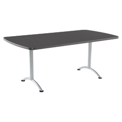 Iceberg IndestrucTable TOO Utility Table Top, Rectangle, Graphite