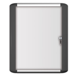 """MasterVision® Platinum Pure Magnetic Dry-Erase Enclosed Whiteboard, Swinging Door, 36"""" x 48"""", Aluminum Frame With Silver Finish"""