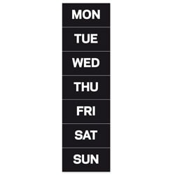 """MasterVision™ Magnetic Days Of The Week, 1"""" x 2"""", Pack Of 7"""