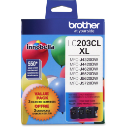 Brother® Cyan/Magenta/Yellow High-Yield Ink Cartridge (LC2033PKS), Pack Of 3